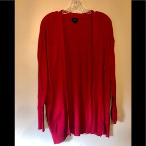 Worthington Open Front Cardigan Red Size XL